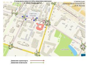 Схема проезда МБОК гимназия №3 г. Уфа