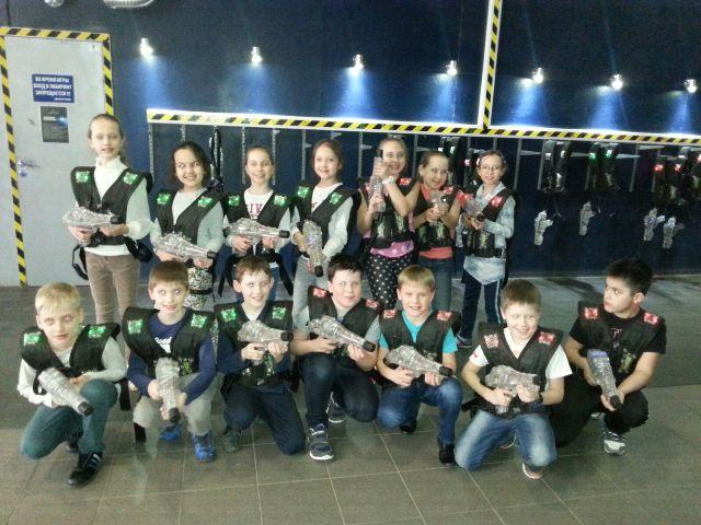 Спортивный клуб Лазертаг привлек учеников 3В класса!